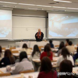 明治大学で講義令和元年12月
